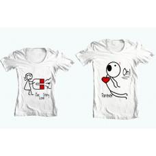 """Парные футболки """"Наша история любви"""""""