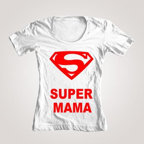 "Футболка женская ""Супер мама"""